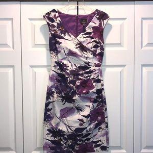 Adrianna Papell V Neck Sleeveless Dress S 4